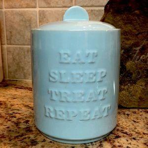 NEW FRINGE ceramic treat canister/jar. NEW